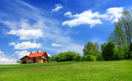 New house in spring Stock Photo - 6717499