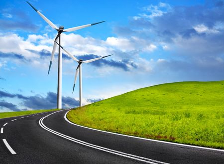Wind road photo