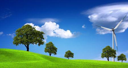 Green ecology panorama Stock Photo - 6728713