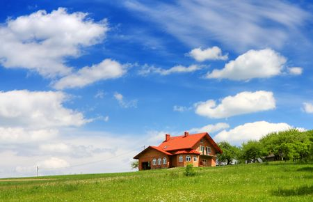New house on blue sky Stock Photo - 6728712