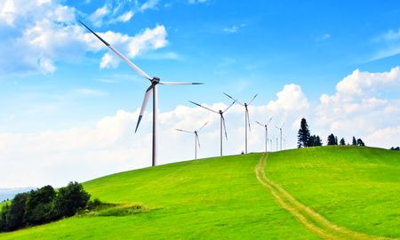 Wind turbines Stock Photo - 6846419
