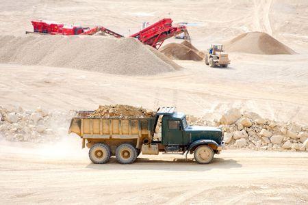 conveyors: Dolomite Mines Stock Photo