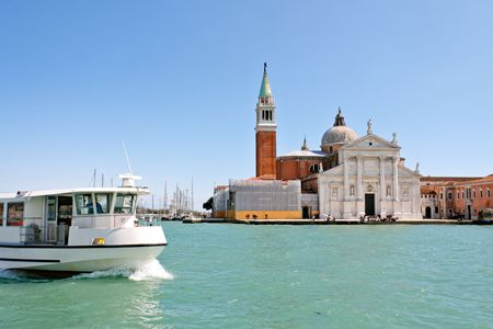 Island and church of San Giorgio Maggiore, Venice, Italy photo