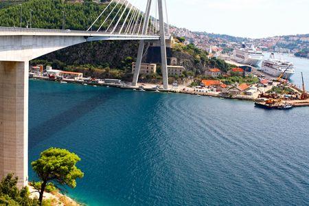 Suspension Bridge - Dubrovnik, Croatia photo