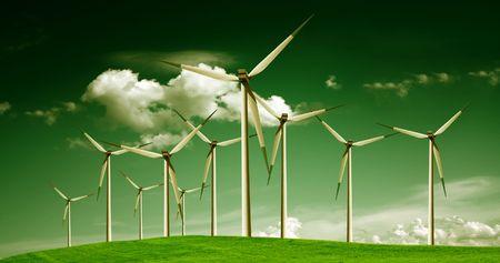 Wind power, ecology Stock Photo - 6960929