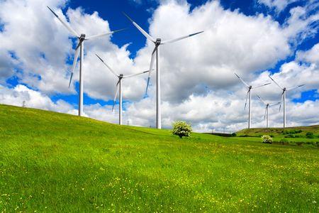 Wind turbines Stock Photo - 7118588