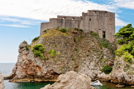 Sea fort, Dubrovnik, Croatia photo