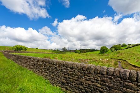 A dry stone wall in the Yorkshire photo