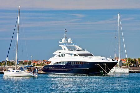 Luxury yachts, Zadar, Croatia photo