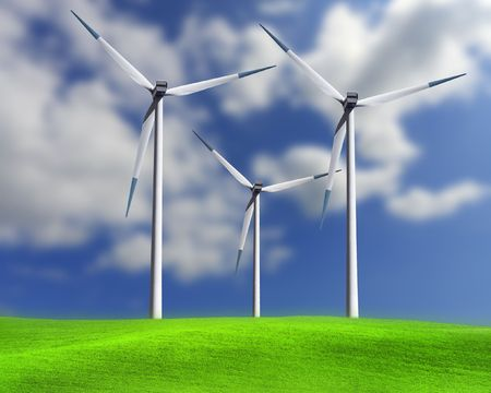 wind force wheel: Wind turbines