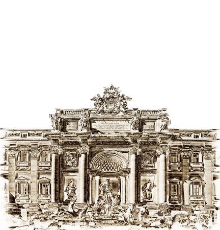 Antique Trevi fountain photo