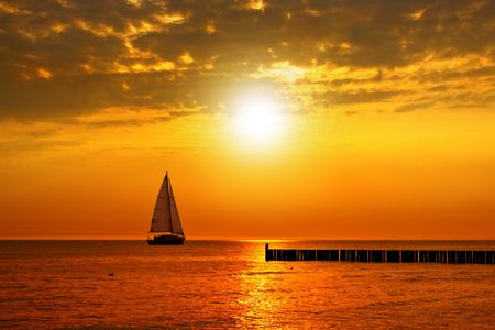 Golden sunset Standard-Bild