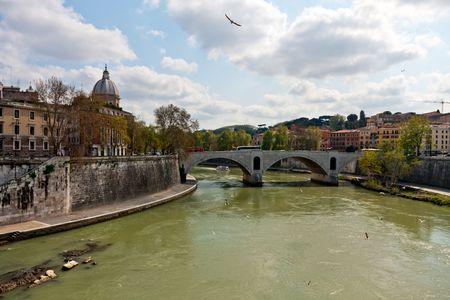 tiber: T�ber, Roma, Italia  Foto de archivo