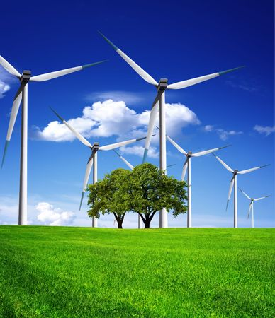 sustainable resources: Power in nature Stock Photo