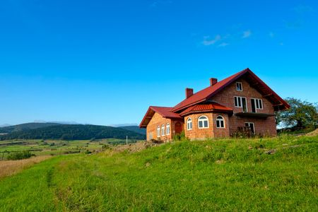 New house on blue sky Stock Photo - 7650145