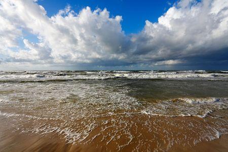 Beautiful sea and clouds sky photo
