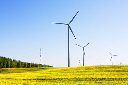 green power: Windmill, alternative energy source