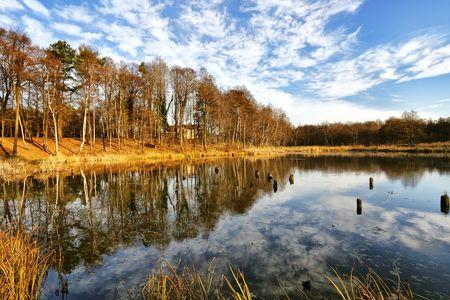 Beautiful autumnal lake Stock Photo - 7840806