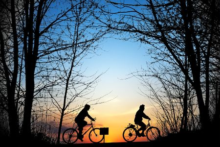 Cyclists photo