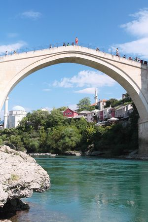 Mostar with the famous bridge photo
