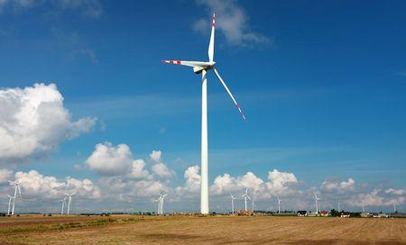Turbines on cloudy sky Stock Photo - 8016668