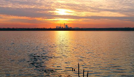 Industrial sunset photo