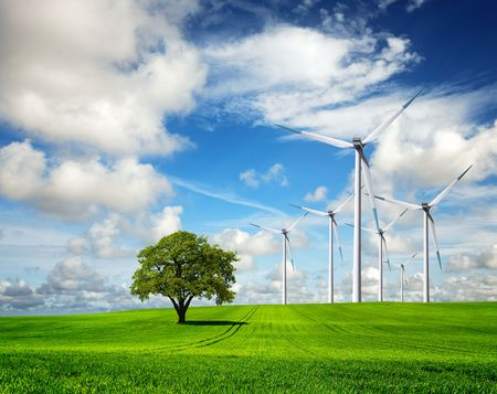Ökologie - Wind of change Standard-Bild