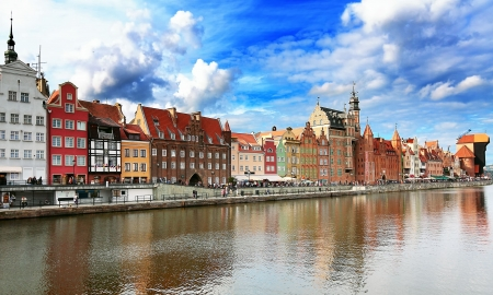 poland: Gdansk panorama Stock Photo