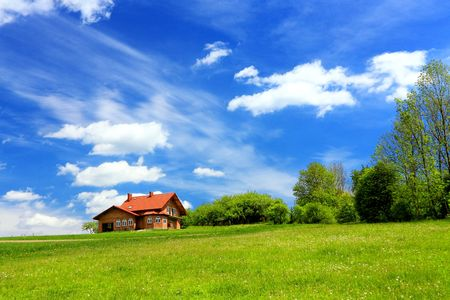 New house and mountain ecological environment Stock Photo - 8056072