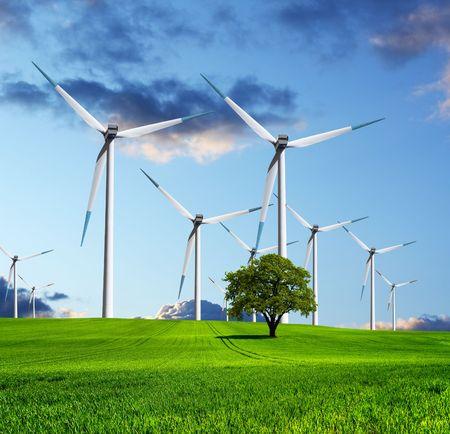 central el�ctrica: El futuro ecol�gico de la industria  Foto de archivo