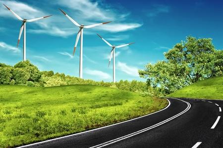 energy field: Windy Road Stock Photo