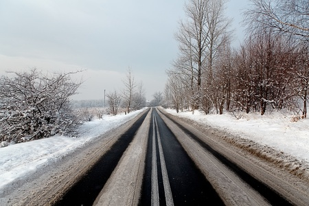 Winter road Stock Photo - 8374093