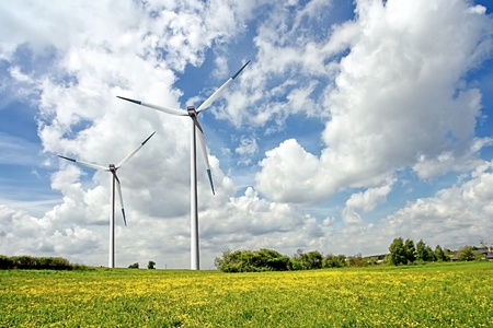 Cloudy Eco Power Stock Photo - 8374107