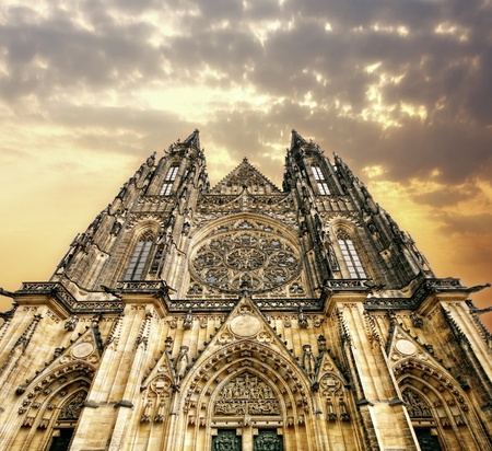 gildhall: Golden Cathedral Stock Photo