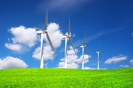 Wind Power Generators Stock Photo - 8571586