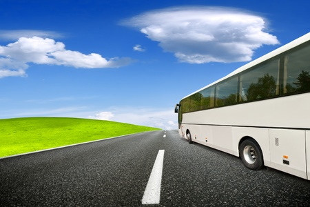 tours: Tour bus Stock Photo