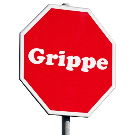 grippe: Grippe Stop Sign Stock Photo