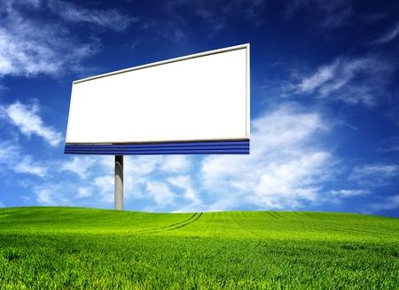 Big billboard over blue sky photo