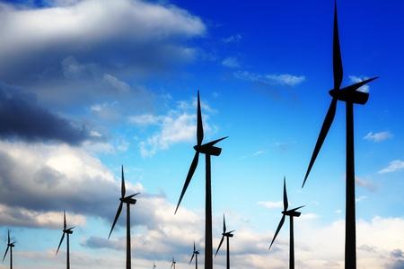 Wind turbines and blue sky Stock Photo - 8654058