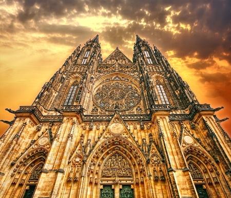 gothique: La cath�drale Banque d'images