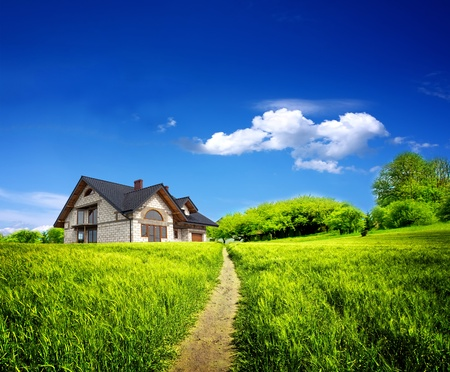 Summer new farmhouse Stock Photo