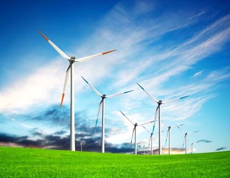 Wind turbine farm photo