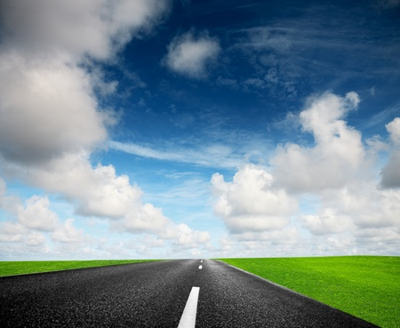 Road and cloudy sky Stock Photo - 9250302