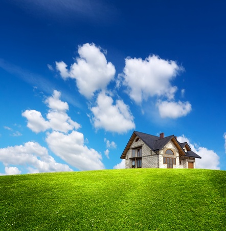 empty house: Eco House Stock Photo