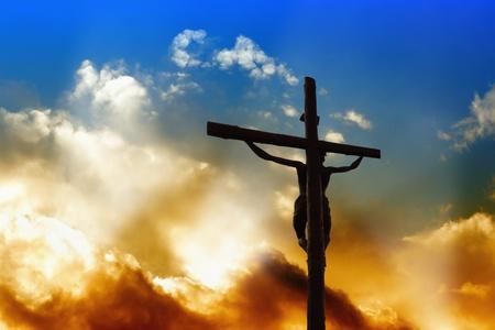 sacrifices: Savior on the Cross Stock Photo