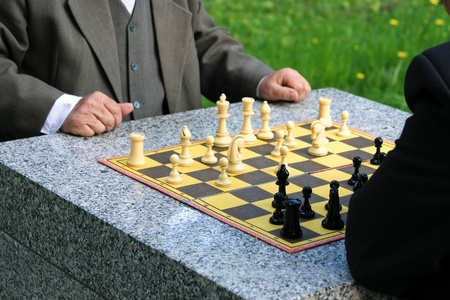 Chess in the park photo
