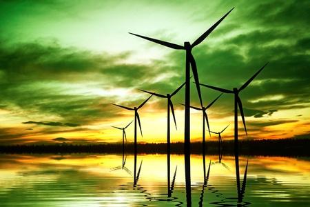 生態学エネルギー技術の発明 写真素材