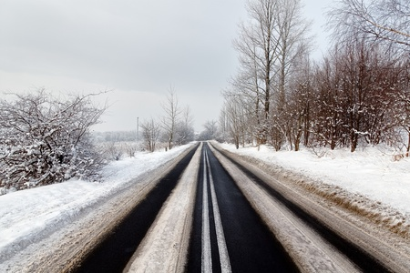 Winter road Stock Photo - 9795482