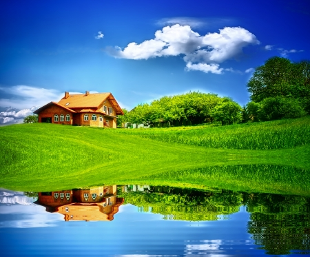 country landscape: House