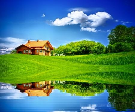 beautiful lake: House